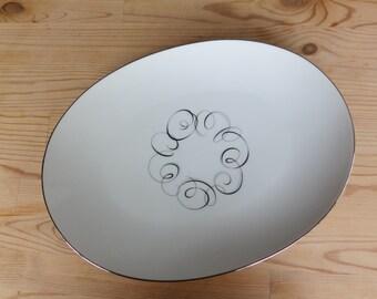 Vintage Style House Rhythm Platter - Fine China Oval Platter