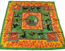 Hermes Silk Scarf, Music of the Gods, Greek Mythology