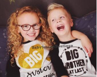 Big Sister Again Shirt Big Sis Shirt Sister to be Sibling Shirt Baby Announcement Shirt Pregnancy Announcement Gold Glitter Shirt Kids Shirt