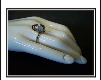 Magnetic Tape Head And Sterling Silver Ring