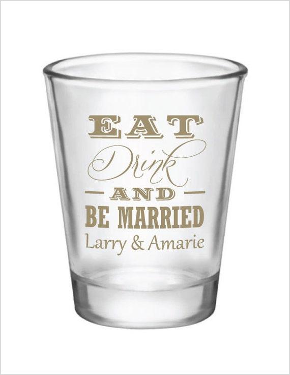 Wedding Favor Boxes For Shot Glasses : Wedding Favor Shot Glasses 144 Personalized 1.5oz Glass Shot Glasses ...