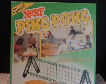 Nerf Ping  Pong   Beer Pong Table Top Game Vintage game Paddle Game