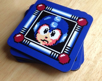 Mega Man Coasters (4 each)