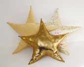 Gold Star Pillow  - Star accent pillow for a kid's room or baby nursery