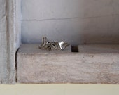 14 K white gold- simple love ring- perfect Valentine's day present- promise ring