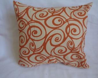 "Orange and Cream Swirl 16 x16"" Pillow Cover"