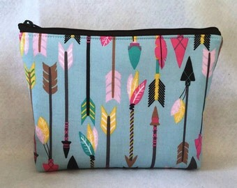 Sale-Tribal arrows cosmetic Bag/Accessory Bag-Large