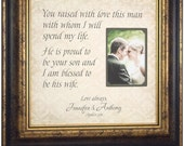 Parents Wedding Gift, Mother of the Groom, Father of the Groom, Wedding Frame In Laws, YOU RAISED With LOVE 16 X 16