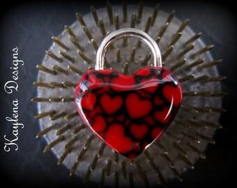 Heart LaceLock, working lock, lock and key  Love Lock
