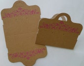 Display Cards - Hanging for Necklace & Earrings - Kraft Paper - CHOICE OF 25 or 50 pcs