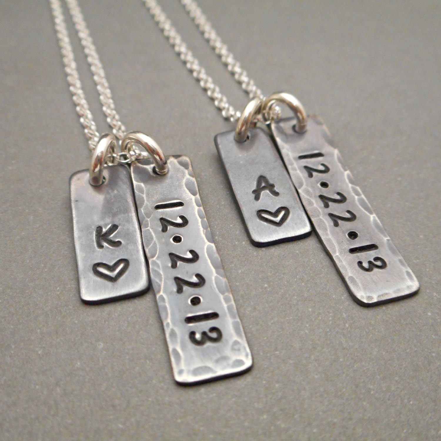 Personalized long distance his and hers his and hers jewelry