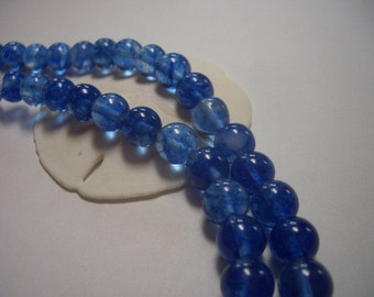 Blueberry Quartz beads, blue, 8mm round gemstone beads, round beads, 8mm beads, shades of blue, 8mm gemstone beads, cloudy blue, sale