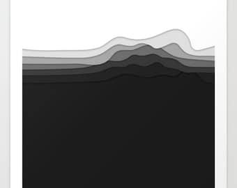 Minimal Black White Vector Art Print