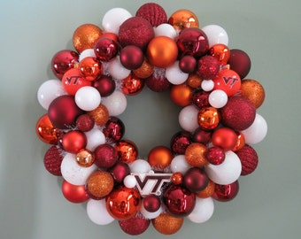VIRGINIA TECH HOKIES Wreath Team Ornament Wreath