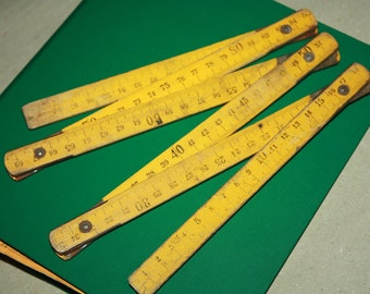Treasury Item - Back in the USSR - Vintage Extension Ruler - Wooden - Russian Folding Ruler
