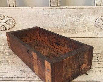 Small Rustic Wood Box  - Perfect for Storage, Decor, Herbs or Candles - Catchall Tray