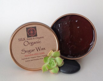 SILK Organic  Eco-Friendly Sugar Wax/Sugar Paste Hair Removal No Strips needed 8oz