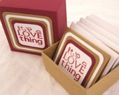 LOVE Thing. Note Cards. Gift Box. Gifting Set in Cranberry & Kraft