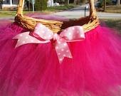 Tutu Basket, Baby shower tutu basket, wedding tutu basket,Easter tutu basket,Flower girl basket, bridal shower decoration,
