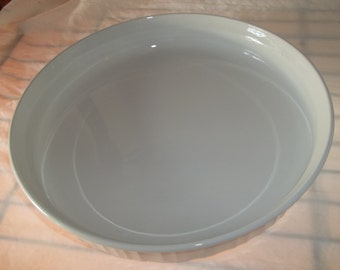 French White Corning Ware Quiche Baking Dish F-3-B