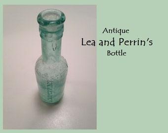 Antique 1890s 1800s LEA and PERRIN'S WORCESTERSHIRE Sauce Bottle Original
