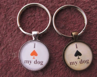 Spay Neuter Keychain 100% Proceeds Benefits Dog Rescue - I Spade My Dog Cat Pet Keychain Animal Rescue New Mexico NM K-911 Roswell