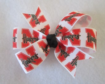 Nebraska Huskers hair bow