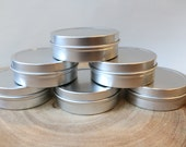 2oz (40ct)  Cosmetic Empty Tins, (Slip Tops) (FREE SHIPPING) ETSY