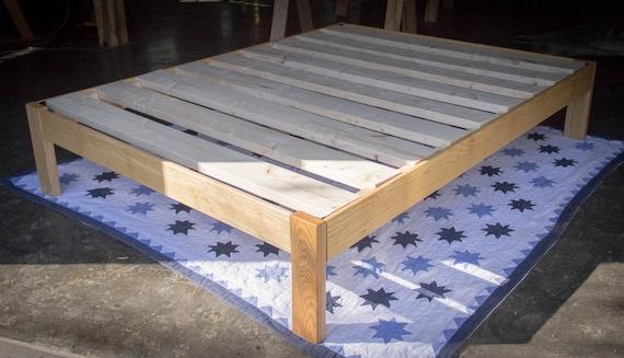Extra Slim Under Bed Storage: Full Size Slim Jim Platform Bed Frame Custom Made