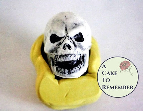 Silicone large skull mold for Halloween cake decorating, chocolate skull mold, hard candy skull mold, polymer clay, resin or wax mold M019