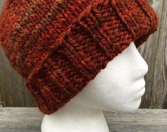 Winter Hat, Wool Hat, Knit hat, Knit Beanie, Hat, Handspun Wool Hat