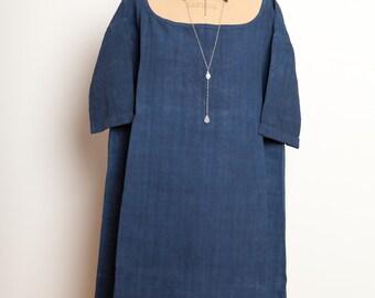 French Antic Dress Indigo,