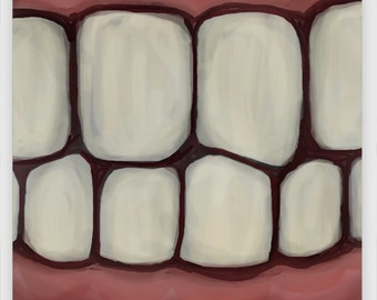 """TOOTHY Metal Magnet, 2"""" Square"""