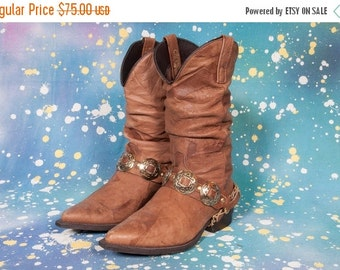 30% OFF 1980's Rocker Style Cowboy Boots Women's Size 8