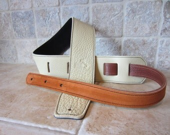 Guitar Strap, Bass Guitar Strap - Italian Leather - Handmade to order in USA -- Free Shipping