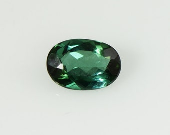 Blue Green Tourmaline 7.8x5.3mm Faceted Oval Gemstone
