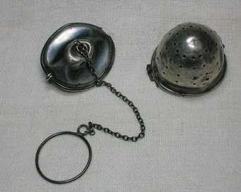 Sterling Tea Infuser, Ball, Steeper. As-Is, for parts, restoration