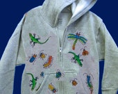 Kids Hoodie with Bugs and Critters