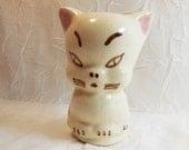 Cat Figurine by Rio Hondo of California - Vintage Pottery Bud Vase