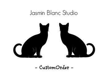 Custom Listing - wedding cat cake topper - reserved for Iman