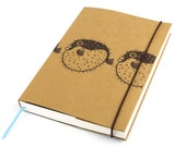Blowfish, Journal, Notebook, Sketchbook, Personal agenda, Travel Journal, Diary, Calendar, Craft, Hardcover, Unique gift, Artistic