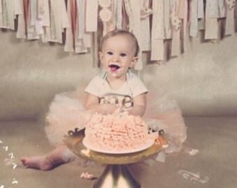 Ivory and Peach Tutu, Newborn Tutu, Baby Tutu, Tutus for children, Flower Girl tutu, 1st birthday tutus, birthday tutu, mommy and me tutus