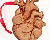 Anatomical Antiqued Heart Magnetic Ornament