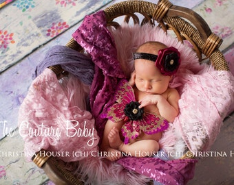 Shades of Fuchsia Glitter Butterfly Wings & Headband Set