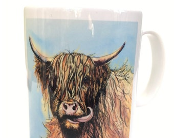 Silly Moo- 'Humphrey' 10 oz ceramic mug