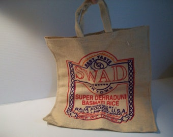 burlap bag for crafts . shabby rice bag wall decor . SWAD burlap bag . pillow making . shabby chic supplies . burlap material for crafting