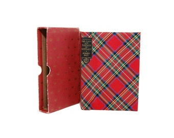 1968 Vintage Clans And Tartans Of Scotland Robert Bain Boxed Edition Woven Tartan Cloth Illustrated Scottish Heritage Scots Clan History