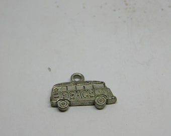 Vintage VW Hippie Hippy Love Bus Metal Charm  DR1