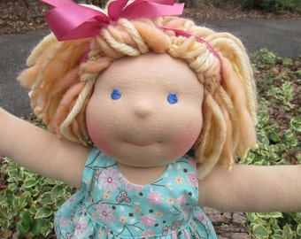 Custom Waldorf Doll DEPOSIT, 12 inch doll, made to order NOVEMBER 2016
