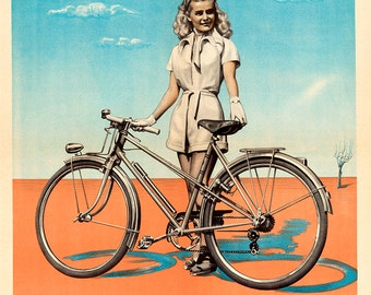 Peugeot Vintage Bicycle Poster (#0209) 6 sizes